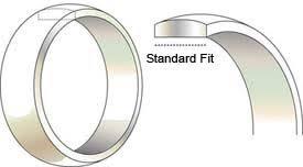 comfort fit wedding bands comfort fit vs standard fit wedding bands