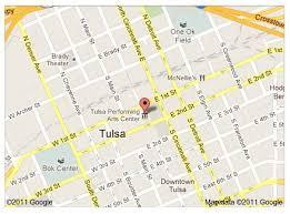 map of tulsa visiting tulsa theatre tulsa