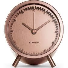 desk clock leff tube desk clock copper lt70003 sportique