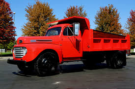 Vintage Ford Truck Images - 1949 ford f5 dually red 350ci auto dump truck american dream