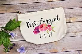 bridal makeup bag makeup bag bridal gift personalized wedding gift simply
