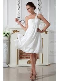 Maternity Wedding Dress Ivory Simple One Shoulder Short Maternity Wedding Dress Img 1969