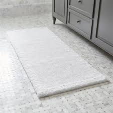 Bathroom Rugs And Mats White Bath Mats Crate And Barrel