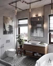 industrial bathroom design warm industrial style house with layout bathroom designs