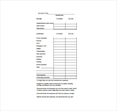 Monthly Expense Sheet Template 11 Budget Sheet Templates Free Sle Exle Format