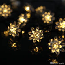 images of outdoor string lights wholesale 20 led solar powered lotus flower outdoor string lights
