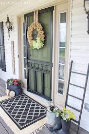 springtime farmhouse porch tour porch front porches and doors