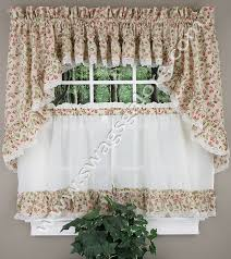 Ruffled Kitchen Curtains Clarice Curtain Ruffled Tiers Ellis View All Kitchen