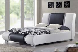 Double Faux Leather Bed Frame by Sorrento Designer Chrome White Black Faux Leather Bed Double King