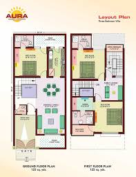 home maps design 100 square yard india apartment for sale mohali punjab india aura villas 3 bhk 125 sq