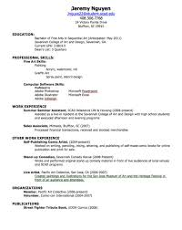 Resume No Experience Sample by Resume For First Job No Experience Resume For Your Job Application