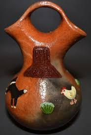 Navajo Wedding Vase Navajo Pottery Wedding Vase E M For Elizabeth Manygoats