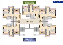 konark solitaire floor plan and 3d view of 1 2 bhk flats