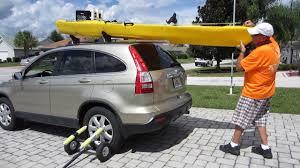 jeep kayak rack pvc rooftop kayak assist youtube