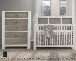 Modern Convertible Crib Natart Rustico Moderno Convertible Crib Chest Dresser