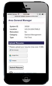 Resume Upload For Jobs by Applying For Jobs At Sodexo From Your Mobile Just Became Easier