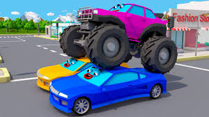 monster truck cartoon videos new monster truck vs racing cars monster trucks video for kids
