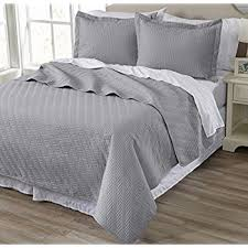 Quilted Coverlets And Shams Amazon Com Emerson Collection 3 Piece Luxury Quilt Set With Shams