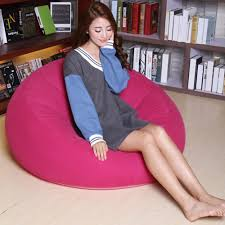 Small Bedroom Chairs For Adults Bean Bag Chair Large Inflatable Seat Bearing 220lb For Adults
