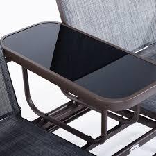 Rocking Chair Tab Patio Glider Rocking Chair Bench Loveseat 2 Person Rocker Deck