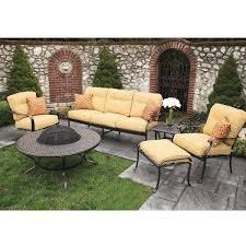 Heritage Patio Furniture 6 Piece Heritage Deep Seating Cast Aluminum Patio Set