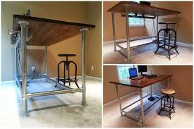 Diy Desk Plan Small Standing Desk Plans Greenville Home Trend Simple