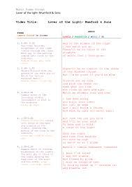 Lights And Camera Lyrics Music Video Script