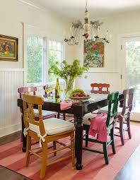50 cool and creative shabby chic dining rooms old painted chairs and table give the dining room a classical element design alison