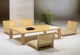 Dining Table Without Chairs Japanese Style Dining Table On Floor Dining Table Design Ideas