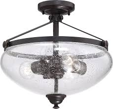 nuvo lighting 60 5544 three light semi flush mount amazon com