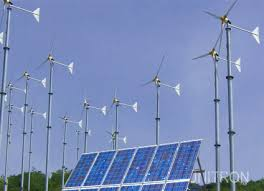 solar power and wind power