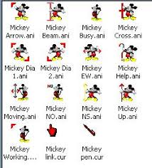 mickey mouse cursors