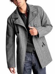 mens grey pea coats