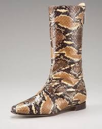 snakeskin boot
