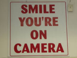 smile your on camera sign