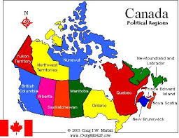 provinces of canada map