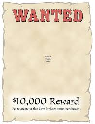 clip art wanted poster