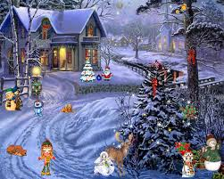 christmas scenes pictures