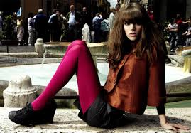bright coloured tights