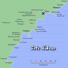 map of cote d azure