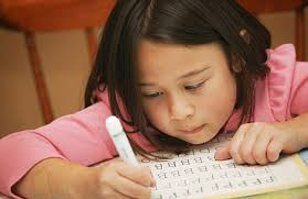 pictures of children writing