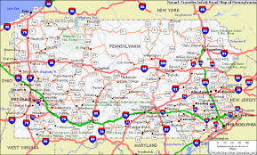 highway map of pa