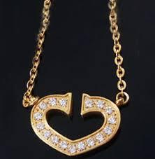 cartier heart necklace
