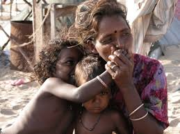 india poor people