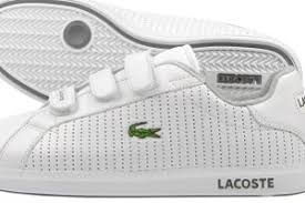 lacoste white trainers