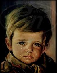 crying boy paintings