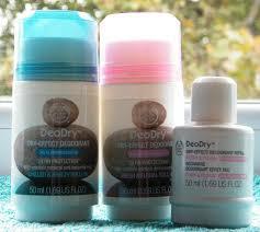 dry deodorants
