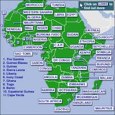 big maps of africa