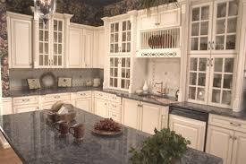 glazed white cabinets