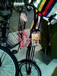 pink chopper bike